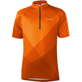 Löffler Half-Zip Bike Jersey Kids, flame